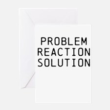 Problem Reaction Solution Greeting Card