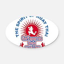 Spirit_Front_10x10_apparel.png Oval Car Magnet