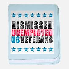 Dismissed unemployed US vet baby blanket
