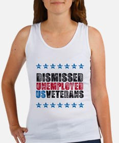 Dismissed unemployed US vet Women's Tank Top