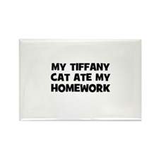 My Tiffany Cat Ate My Homewor Rectangle Magnet