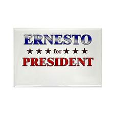 ERNESTO for president Rectangle Magnet
