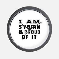 I Am Syrian And Proud Of It Wall Clock