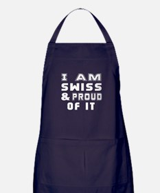 I Am Swiss And Proud Of It Apron (dark)