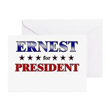 ERNEST for president Greeting Cards (Pk of 20)
