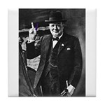 Purple Revolution Churchill 3 Tile Coaster