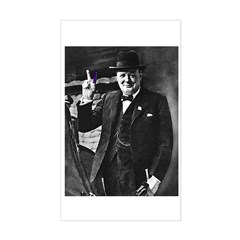 Purple Revolution Churchill 3 Sticker (Rectangular