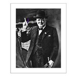 Purple Revolution Churchill 3 Small Poster