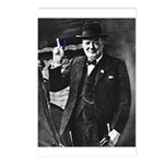 Purple Revolution Churchill 3 Postcards (Package o
