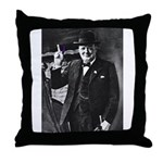 Purple Revolution Churchill 3 Throw Pillow