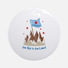 Sky Is Limit Round Ornament