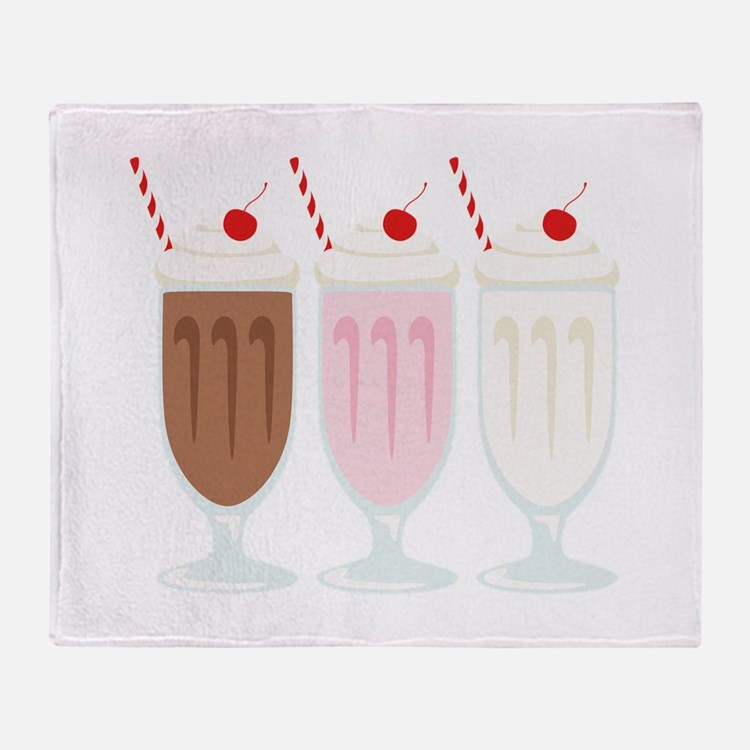 Milkshakes Throw Blanket