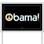 Black Obama for Peace Yard Sign
