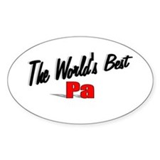 """The World's Best Pa"" Oval Decal"