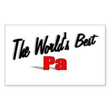 """""""The World's Best Pa"""" Rectangle Decal"""