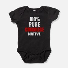100 % Pure Congolese Native Baby Bodysuit