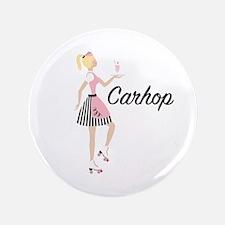Carhop Waitress Button