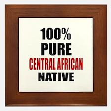 100 % Pure Central African Native Framed Tile