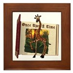 Gerry Giraffe Framed Tile