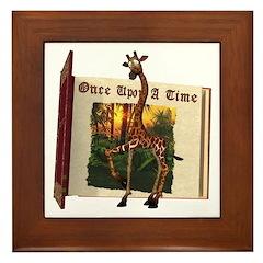 Gerry Giraffe Framed Tile