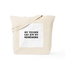 My Toyger Cat Ate My Homework Tote Bag