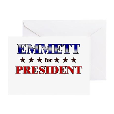 EMMETT for president Greeting Cards (Pk of 10)