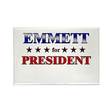 EMMETT for president Rectangle Magnet