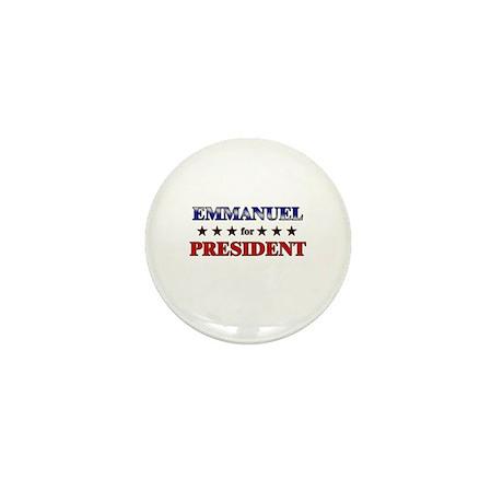 EMMANUEL for president Mini Button