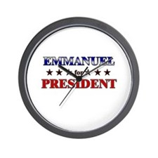 EMMANUEL for president Wall Clock