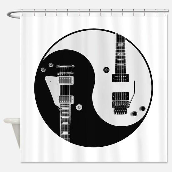 Guitar Yin Yang Shower Curtain
