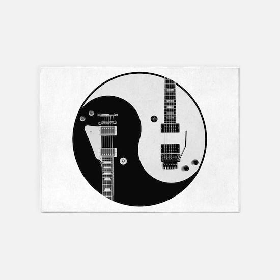 Guitar Yin Yang 5'x7'Area Rug