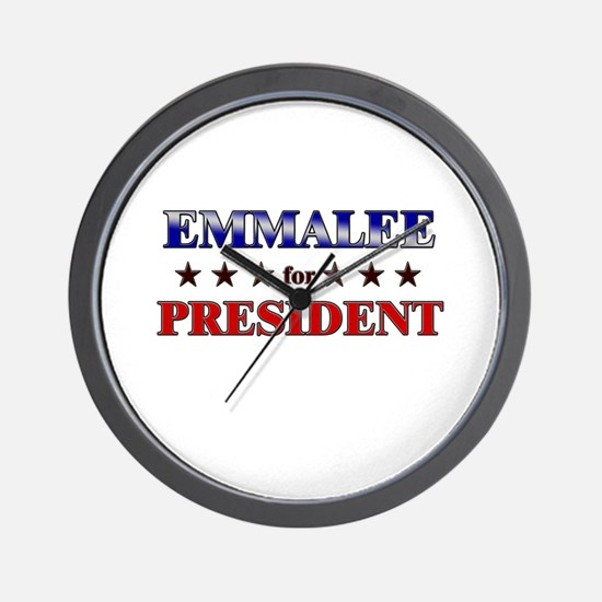 EMMALEE for president Wall Clock
