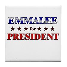 EMMALEE for president Tile Coaster