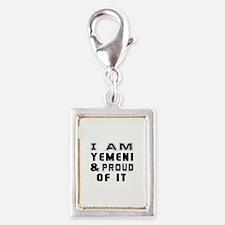 I Am Yemeni And Proud Of It Silver Portrait Charm