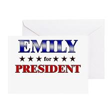 EMILY for president Greeting Card