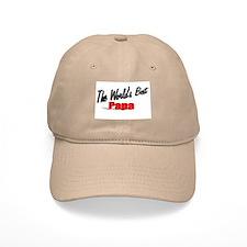 """The World's Best Papa"" Baseball Cap"