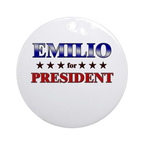 EMILIO for president Ornament (Round)