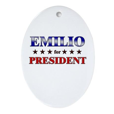 EMILIO for president Oval Ornament