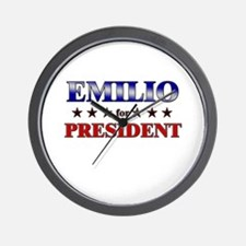 EMILIO for president Wall Clock