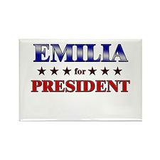 EMILIA for president Rectangle Magnet