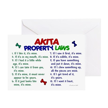 Akita Property Laws 2 Greeting Card