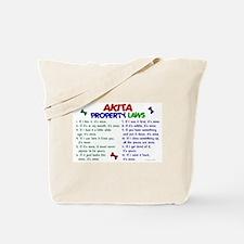 Akita Property Laws 2 Tote Bag