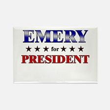 EMERY for president Rectangle Magnet