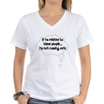 Related ... Not coming out! Women's V-Neck T-Shirt