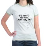 Related ... Not coming out! Jr. Ringer T-Shirt