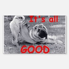 All Good Pei Rectangle Decal