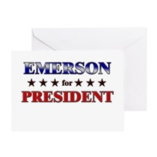 EMERSON for president Greeting Card