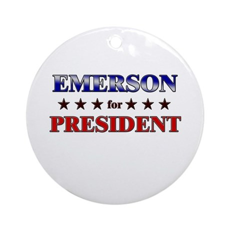 EMERSON for president Ornament (Round)