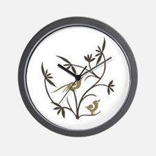 Birds on Branches Wall Clock