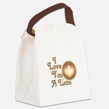 Love You Latte Canvas Lunch Bag